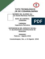 Portada Informe Final -Servicio Social
