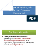 7. Employee Motivation, Job Satisfaction, Employee Engagement