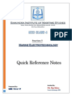 Function 5 ELECTRICAL Quick Reference Notes
