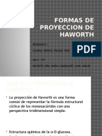 Formas de Proyeccion de Haworth