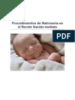 Procedimientos de Matroneria Al Recien Nacido