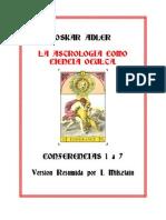Adler-Astrologia Como Ciencia Oculta, Oskar Adler
