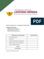 Informe 'Investigación Universitaria