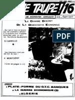 Jeune Taupe 16 Juillet-septembre 1977