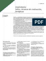 2003 Kinesiterapia Respiratoria Estudio Diagnóstico, Técnicas de Evaluación, Técnicas Kinesiterápicas