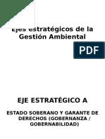 Ejes Estratégicos de La Gestión Ambiental
