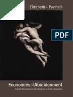 Povinelli, Elisabeth - Economies of Abandonment