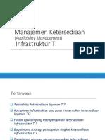 Manajemen Ketersediaan Infrastruktur TI