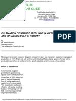 Cultivating Spruce Seedlings Perlite Sphagnum Mixtures Norway