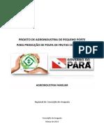 Projeto de Agroindustria de Pequeno Porte Para Produção de Polpa de Frutas Congelada Regional Conceição Do Araguaia
