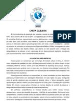Carta de Bahia - Pre-conferencia de las Américas 2010