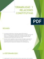 Deformabilidad y Relaciones Constitutivas