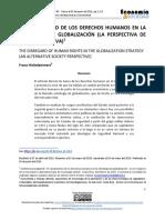 Franz Hinkelammert- EL VACIAMIENTO DE LOS DERECHOS HUMANOS EN LA ESTRATEGIA DE GLOBALIZACIÓN