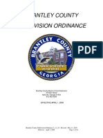 Brantley County Subdivision Ordinance 5-11-10