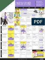 Calendario Septiembre Gym Virtual 2016