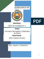 Concretos Permeables y Materiales de Reúso