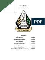 Laporan Praktikum Biokimia Enzim Saliva Dan Empedu Kelompok 2.3 FK UKDW 2015