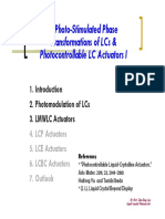 CH3 Photo-Stimulated Phase Transformations of LCs Photocontrollable LC Actuators I 102 上課版