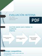 Evaluación Interna