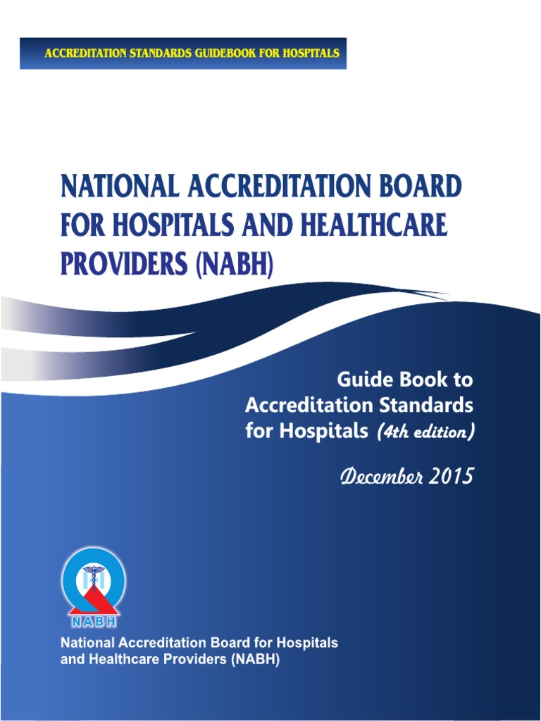 guide book to accreditation standards for hospitals 4th edition rh scribd com Nabh Logo Nabh India