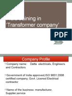Industrial  training at transformer company