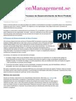 Innovationmanagement.se-a Necessidade de Um Processo de Desenvolvimento de Novo Produto