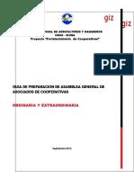 Guía Para Realizar Asambleas Generales de Cooperativas, 2012