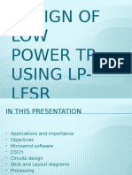 Design of Low Power Tpg Using Microwind