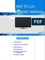 Samsung Pdp Tv Lily - Training Manual