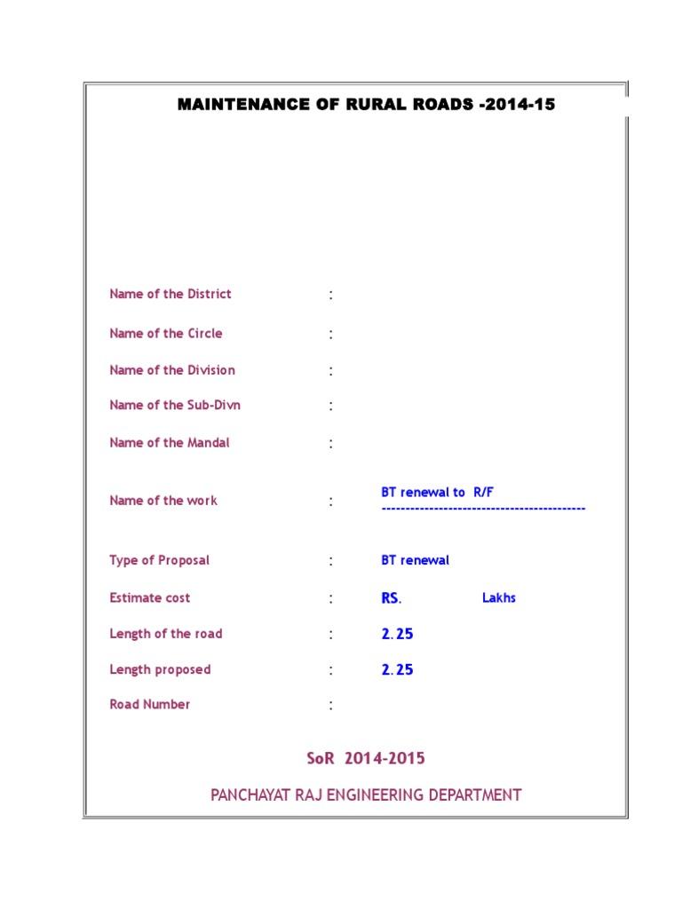 bt-renewal-model-estimate-with-sor-2014-15 xls | Asphalt | Concrete