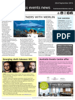 Business Events News for Thu 22 Sep 2016 - BESydney partners with Merlin Entertainments, Aussie chefs take over NYC, Australia Events Centre offer, Luxperience, Dreamtime, ATE and much more