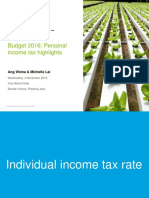 My Tax Budget 2016 Personal Income Tax Highlights