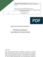 Nuevas politicas de ciencia y tecnologia