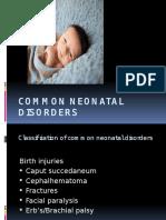 Common Neonatal Disorders