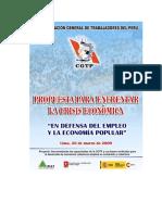 Propuesta Para Afrontar Una Crisis Economica