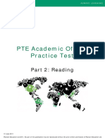 Part 2 Reading PTEA Practice Test