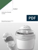 Snowy Frozen Dessert Maker Manual