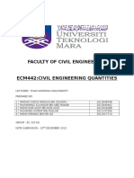 Faculty of Civil Engineering Quantities