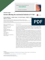 Factors affectingthemechanicalbehaviorofY-TZP