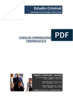 Curso de Criminologia y Criminalistica