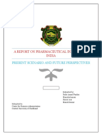 A report on pharmaceutical Industry in India