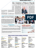 Cultura, creatività e imprese a Palazzo Ducale - Il Resto del Carlino del 20 settembre 2016