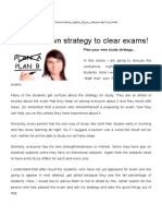 Plan Your Own Strategy to Clear Exams!
