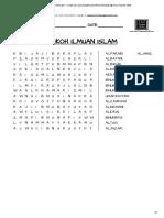 Wordsearch Pend Islam