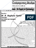 ABSTRACT Ayurveda - Enquiry in Epistemology- 2013-10-18-Varier