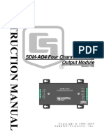sdm-ao4 FOUR CHANNEL ANALOUGE OUTPUT DATA SHEET