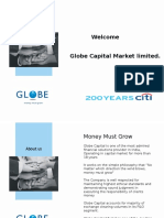 Corporate Presentation Globe Capital Market Limited