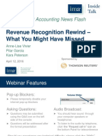 Revenue Recognition Standards - Ima Webinar 12apr16 Final 2