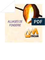 Alliages de Fondrie