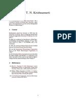 T. N. Krishnamurti